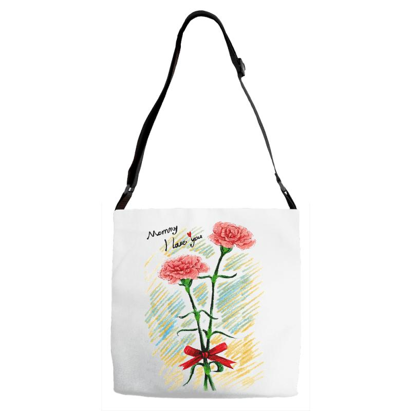 Love Mom Adjustable Strap Totes | Artistshot