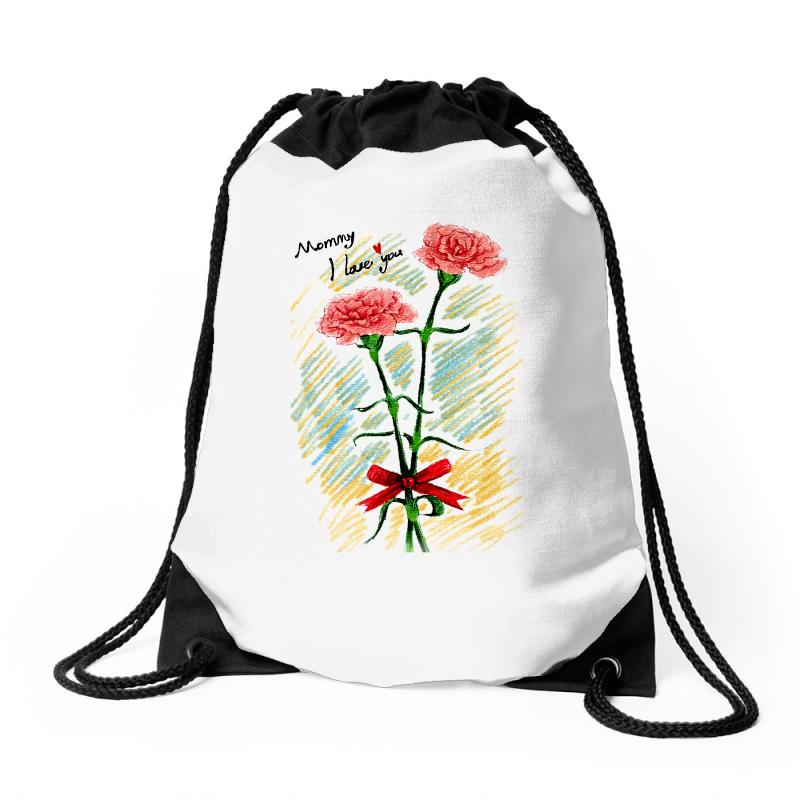 Love Mom Drawstring Bags | Artistshot