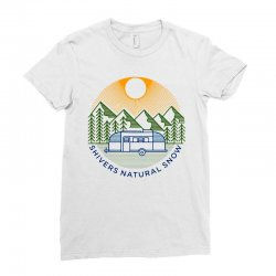 natural snow Ladies Fitted T-Shirt | Artistshot
