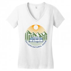 natural snow Women's V-Neck T-Shirt | Artistshot
