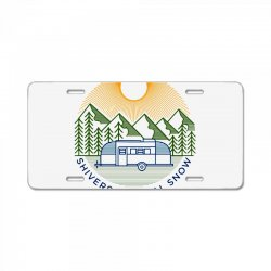 natural snow License Plate | Artistshot