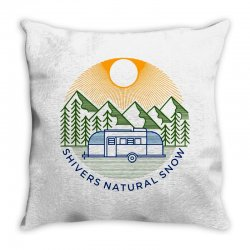 natural snow Throw Pillow | Artistshot