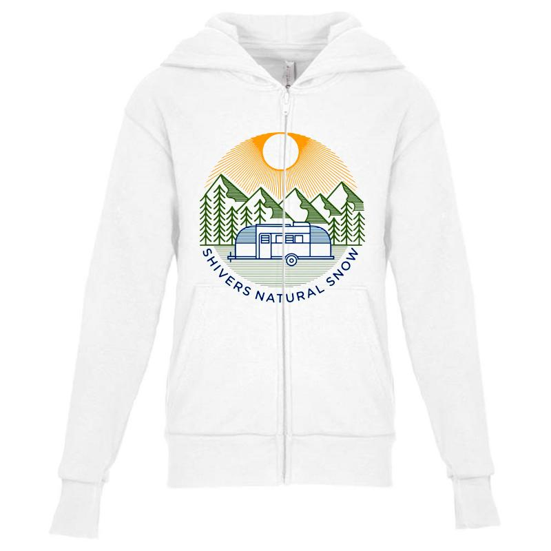 Natural Snow Youth Zipper Hoodie | Artistshot