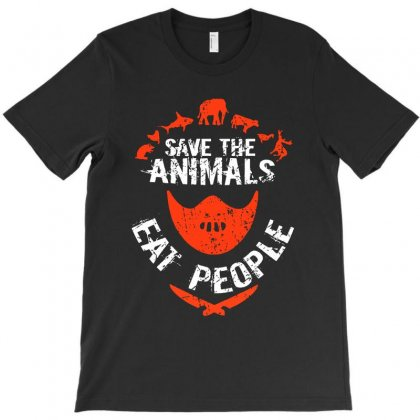 Save Animals Eat People T-shirt Designed By Vanode Art