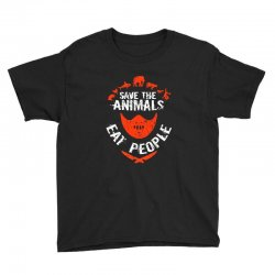 save animals eat people Youth Tee | Artistshot