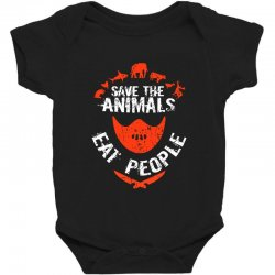 save animals eat people Baby Bodysuit | Artistshot