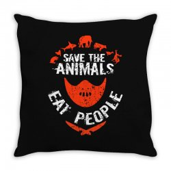 save animals eat people Throw Pillow | Artistshot
