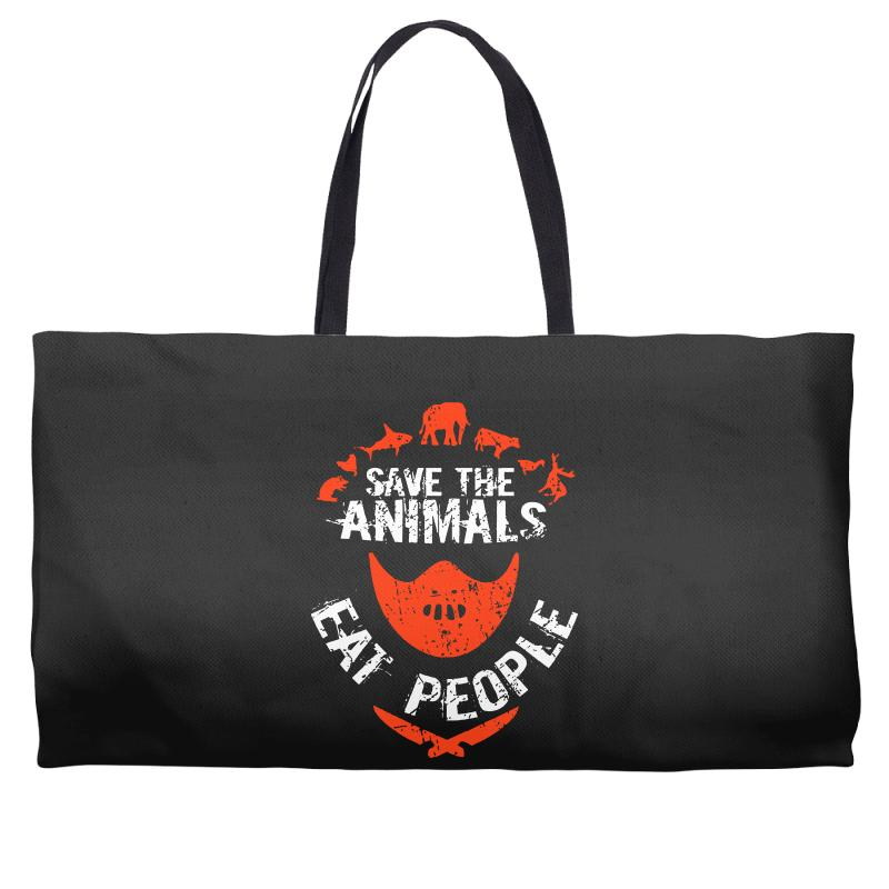 Save Animals Eat People Weekender Totes | Artistshot
