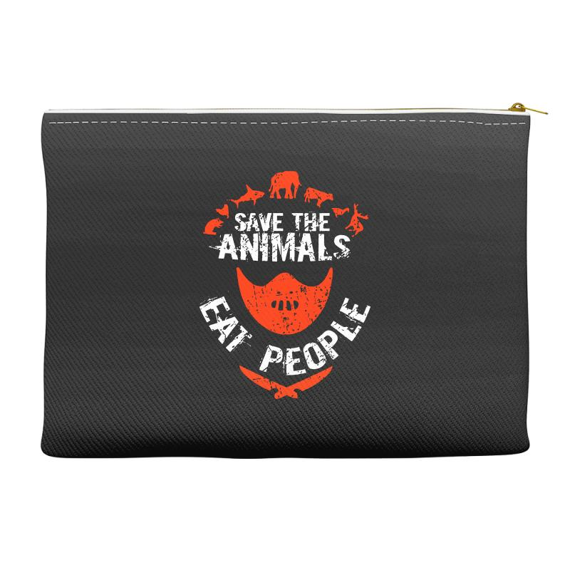 Save Animals Eat People Accessory Pouches | Artistshot