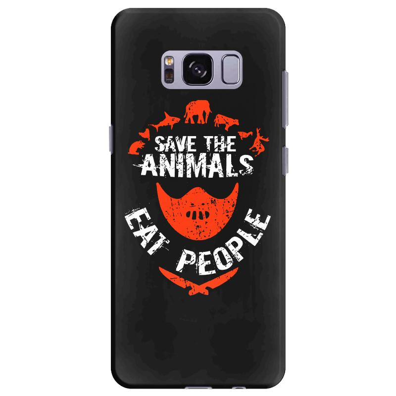 Save Animals Eat People Samsung Galaxy S8 Plus Case | Artistshot
