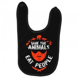 save animals eat people Baby Bibs | Artistshot