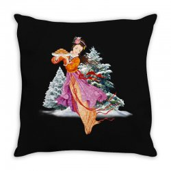 snow princess Throw Pillow | Artistshot