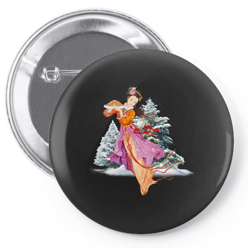 Snow Princess Pin-back Button | Artistshot