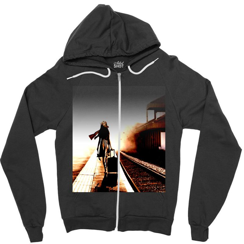 The Girl's Lonely Zipper Hoodie | Artistshot