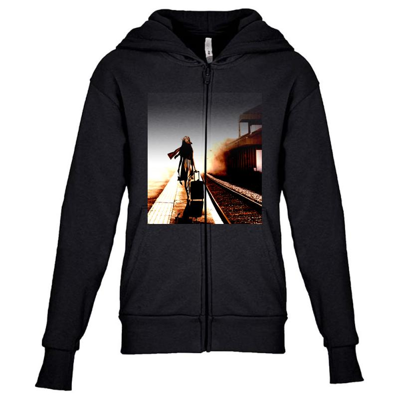 The Girl's Lonely Youth Zipper Hoodie | Artistshot