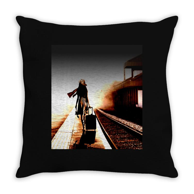The Girl's Lonely Throw Pillow | Artistshot