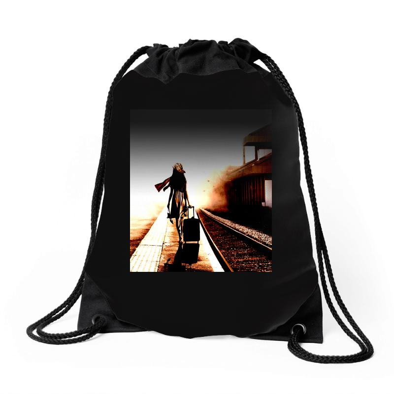 The Girl's Lonely Drawstring Bags | Artistshot