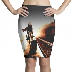 the girl's lonely Pencil Skirts | Artistshot