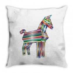 the legend of trojan horse Throw Pillow | Artistshot