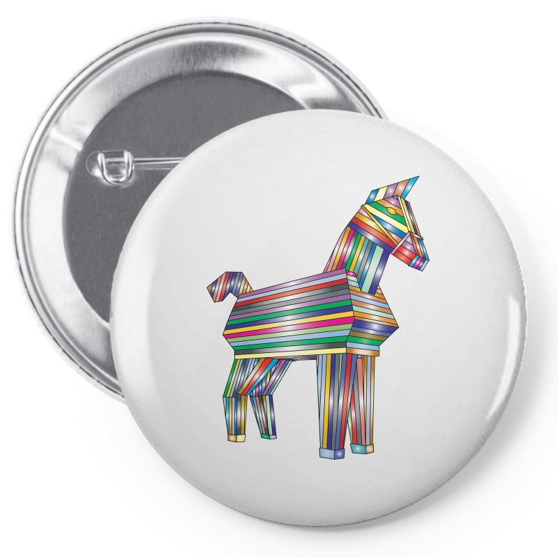 The Legend Of Trojan Horse Pin-back Button | Artistshot