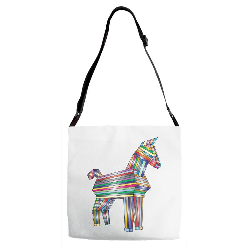 The Legend Of Trojan Horse Adjustable Strap Totes | Artistshot