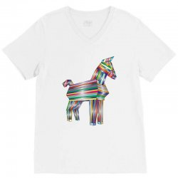 the legend of trojan horse V-Neck Tee | Artistshot