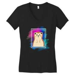 the spring hedgehog Women's V-Neck T-Shirt | Artistshot
