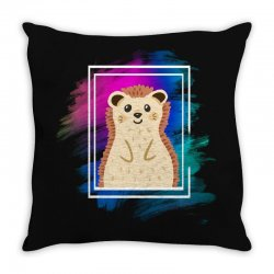the spring hedgehog Throw Pillow | Artistshot