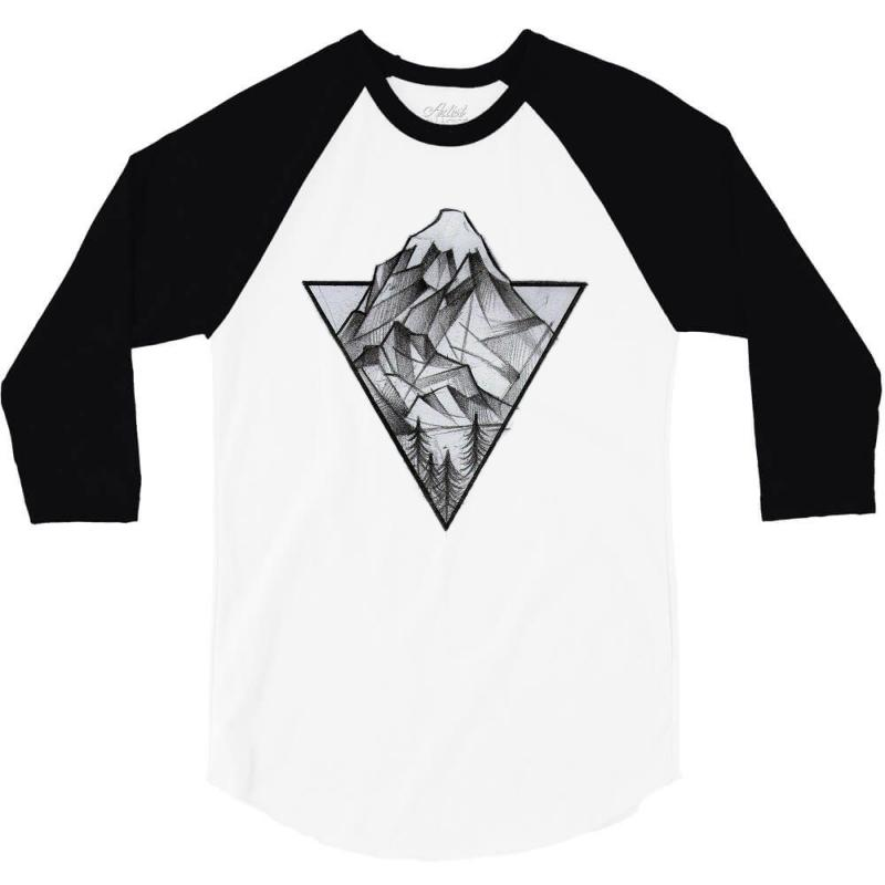 Triangle Mountain 3/4 Sleeve Shirt | Artistshot