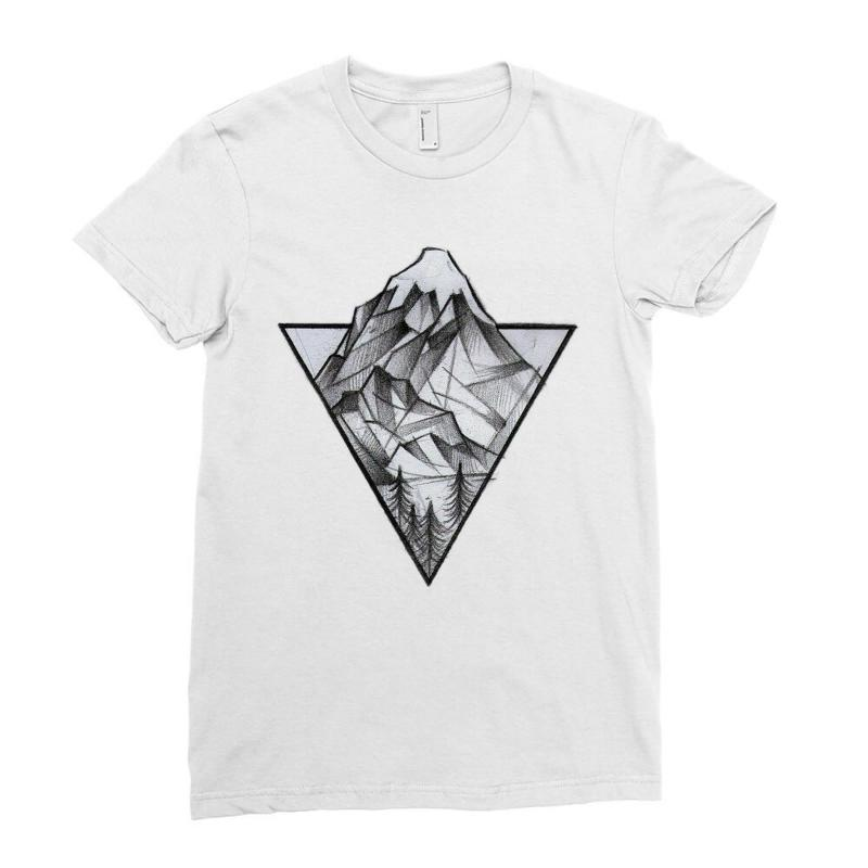 Triangle Mountain Ladies Fitted T-shirt   Artistshot