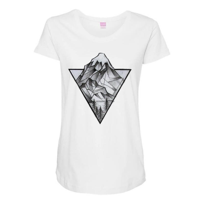 Triangle Mountain Maternity Scoop Neck T-shirt | Artistshot