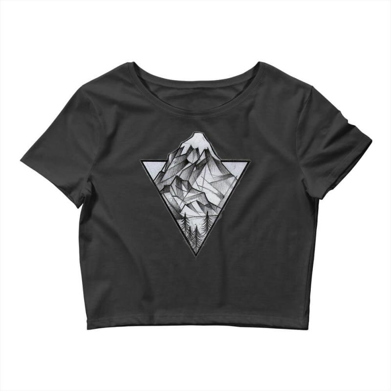 Triangle Mountain Crop Top | Artistshot