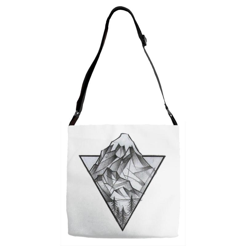 Triangle Mountain Adjustable Strap Totes | Artistshot