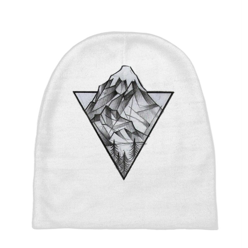 Triangle Mountain Baby Beanies | Artistshot