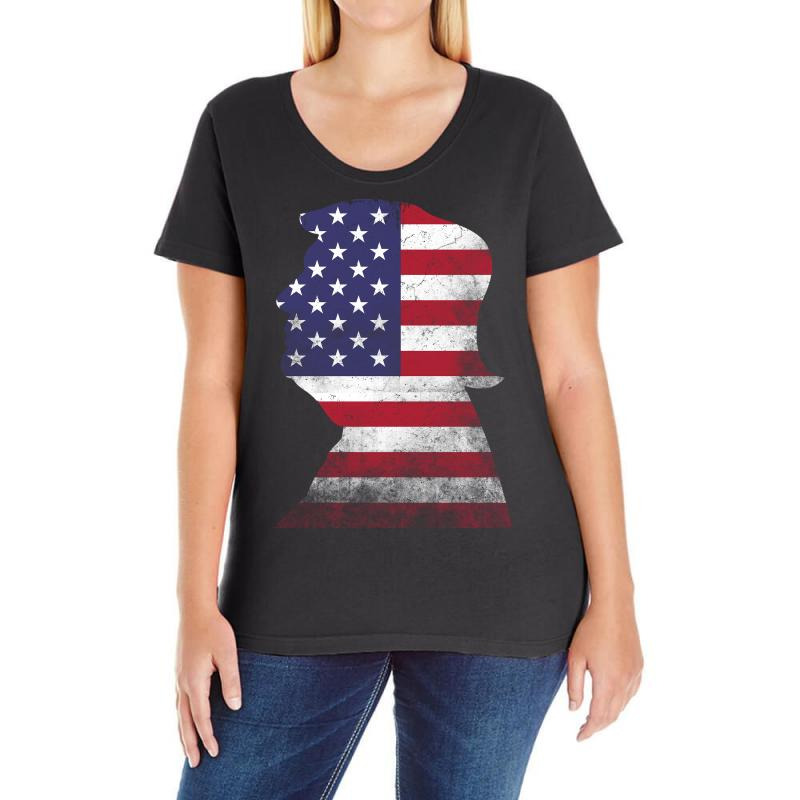Trump And American Boarder Ladies Curvy T-shirt | Artistshot