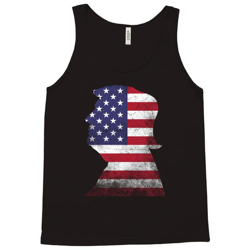Trump And American Boarder Tank Top | Artistshot
