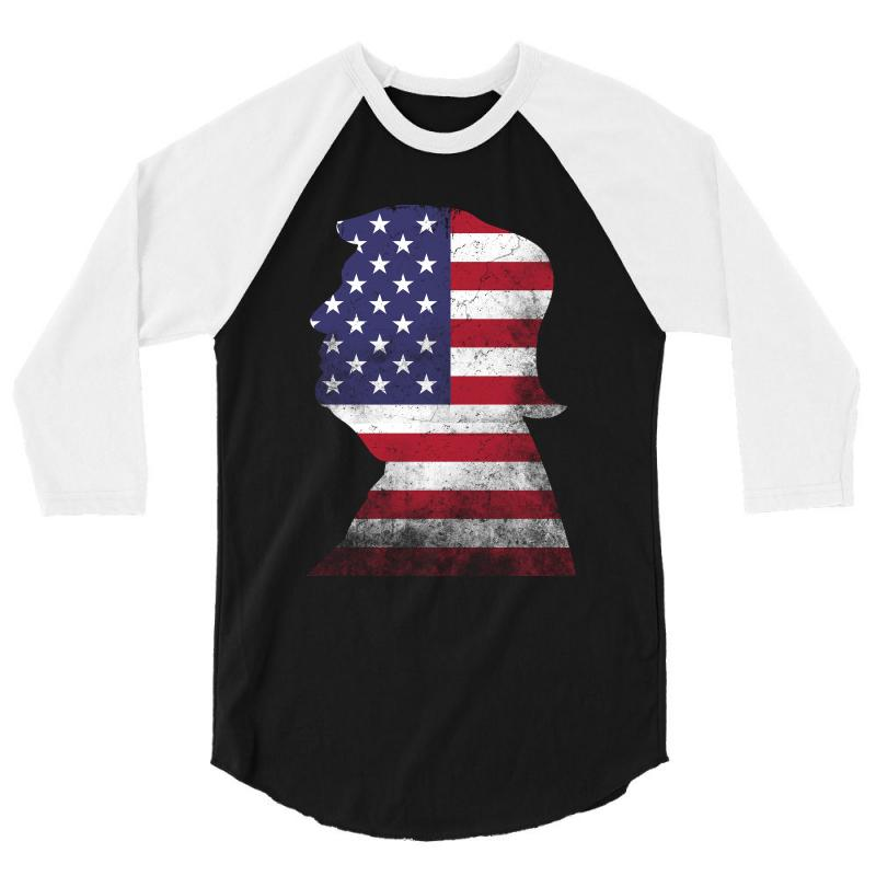 Trump And American Boarder 3/4 Sleeve Shirt | Artistshot
