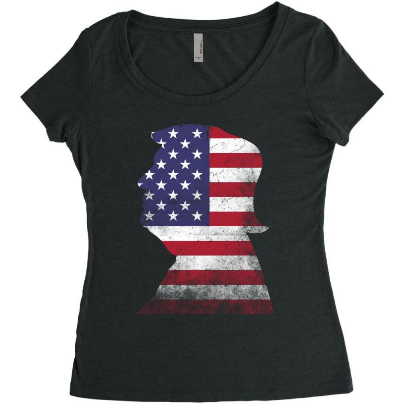 Trump And American Boarder Women's Triblend Scoop T-shirt | Artistshot