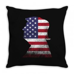 trump and american boarder Throw Pillow | Artistshot