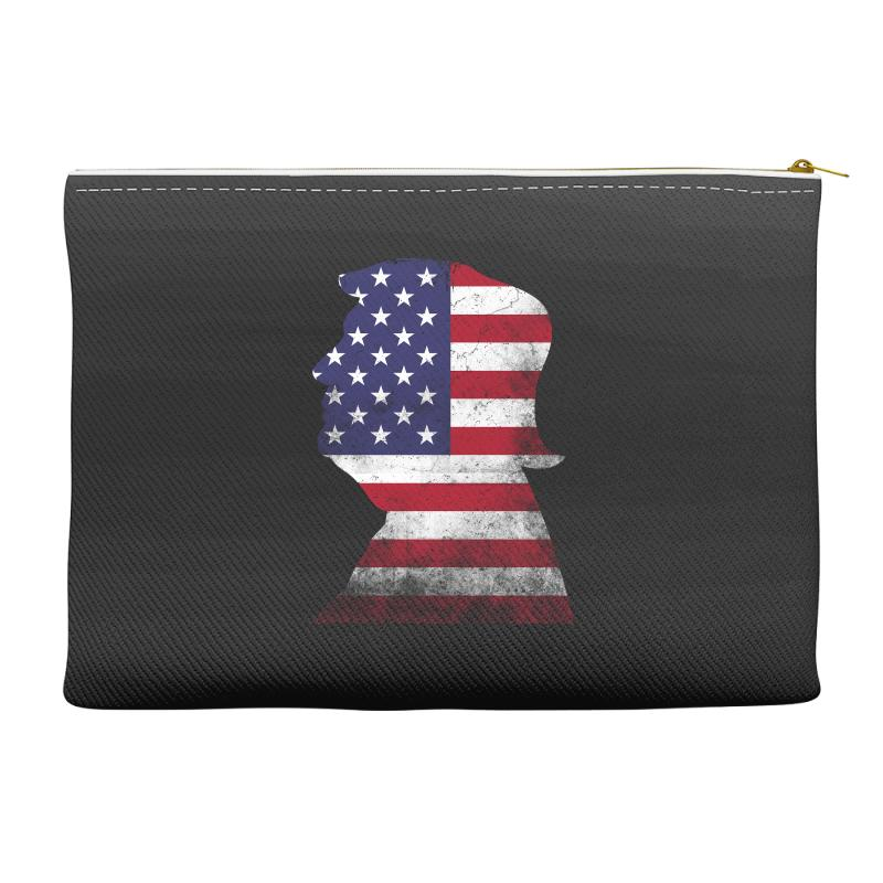 Trump And American Boarder Accessory Pouches | Artistshot