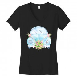 wedding car Women's V-Neck T-Shirt | Artistshot