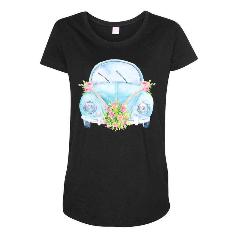 Wedding Car Maternity Scoop Neck T-shirt | Artistshot