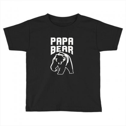 Papa Bear Limited Toddler T-shirt Designed By Mdk Art