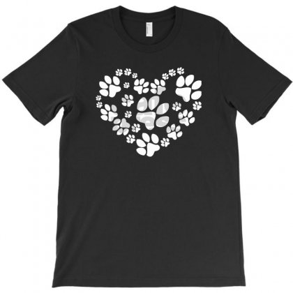 Paws Heart T-shirt Designed By Mdk Art