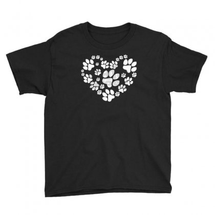 Paws Heart Youth Tee Designed By Mdk Art