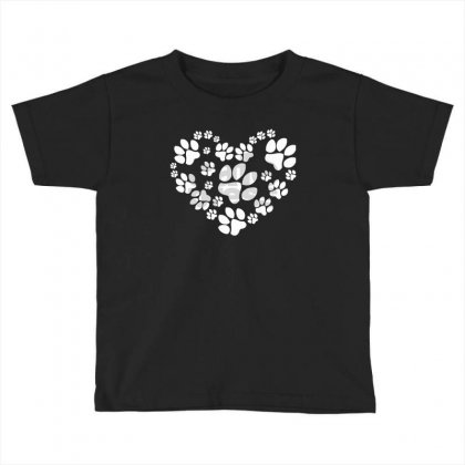Paws Heart Toddler T-shirt Designed By Mdk Art