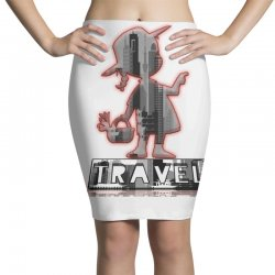 travel city Pencil Skirts | Artistshot