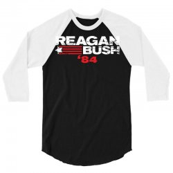 reagan bush 3/4 Sleeve Shirt | Artistshot