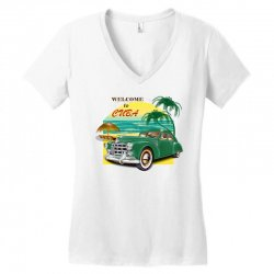 welcome to cuba Women's V-Neck T-Shirt | Artistshot