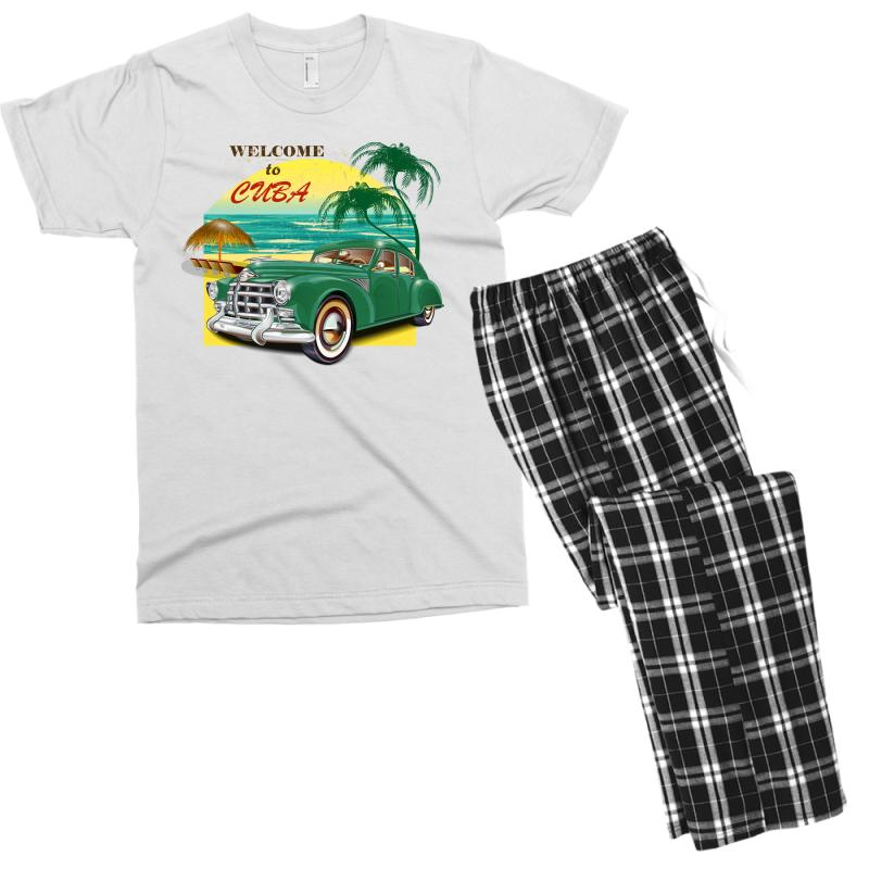 Welcome To Cuba Men's T-shirt Pajama Set | Artistshot